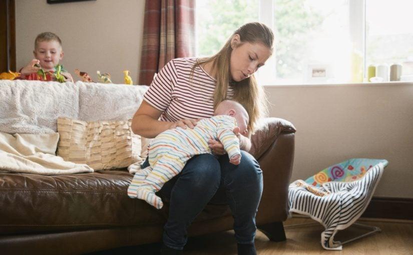 Kvinde med baby